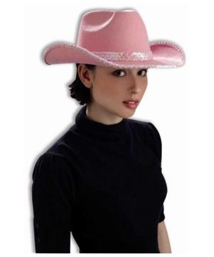 Pink Cowboy Adult Hat