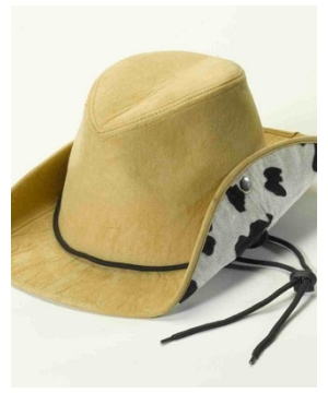 Tan Cow Print Cowboy Hat - Adult Hat