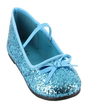 Blue Glitter Kids Shoes