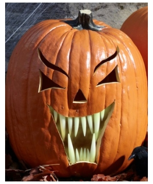 Glow In The Dark Fang Pumpkin Teeth