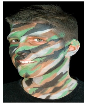 Jungle Camouflage Makeup