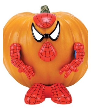 Spiderman Pumpkin Push-in Decorating Kit