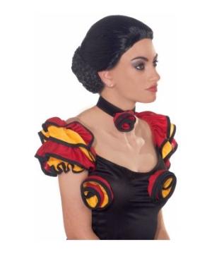 Black Spanish Adult Wig