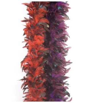 Flapper Red Feather Boa Deluxe