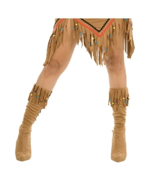 Indian Maiden Suede Boot Covers Adult Accessory