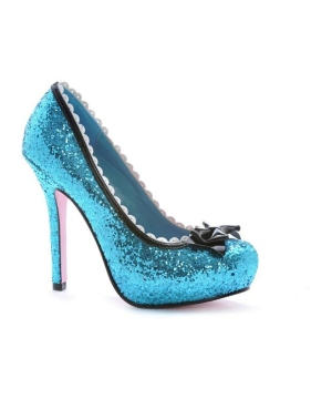 Blue Glitter Princess Adult Shoes