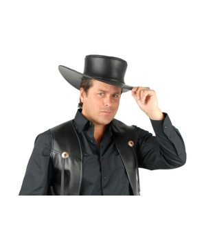 Cowboy Leather Adult Hat