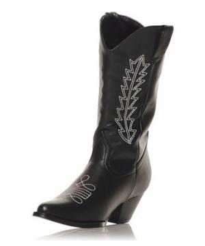 Black Cowboy Boots Kids Shoes
