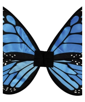 Blue Satin Butterfly Girls Wings