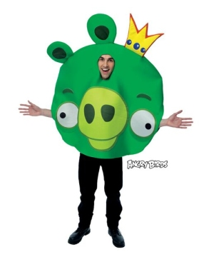 Green King Pig Adult Costume