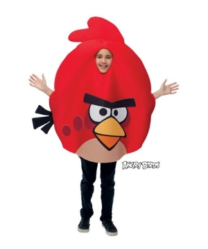 Red Rovio Angry Birds Kids Costume