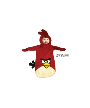 Red Rovio Angry Birds Baby Costume