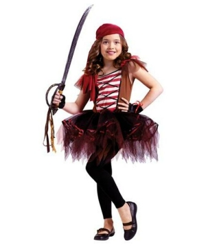 Ballerina Pirate Girls Costume