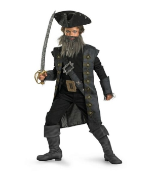 Black Beard Boys Teen Costume