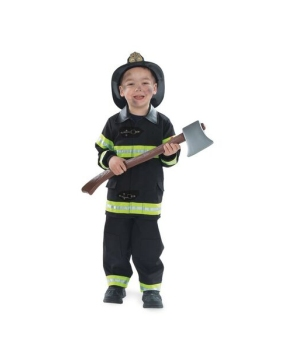 Black Firefighter Costume - Kids Costume
