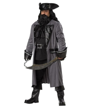 blackbeard the pirate mens plus size costume