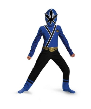 Blue Ranger Samurai Costume - Toddler/kids Costume