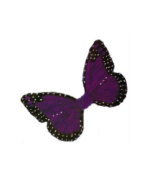 Purple Feather Butterfly Wings - Adult Wings
