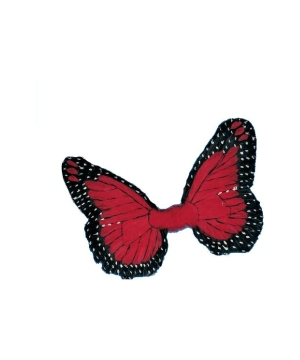 Red Feather Butterfly Wings - Adult Wings