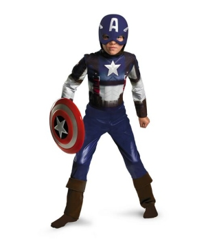 Captain America Boys Costume