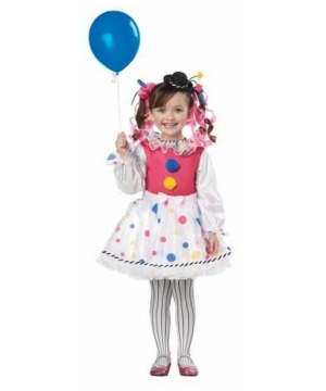 Cutesy Clown Kids Costume