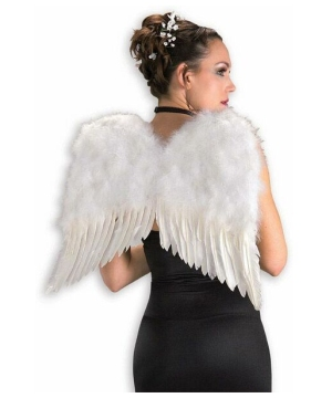 White Angel Feather Adult Wings deluxe