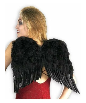 Black Feather Adult Wings deluxe