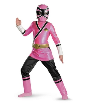 Samurai Pink Power Ranger Kids Costume deluxe