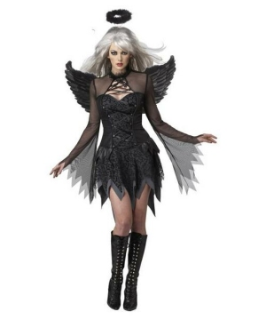Dark Fallen Angel Women Costume