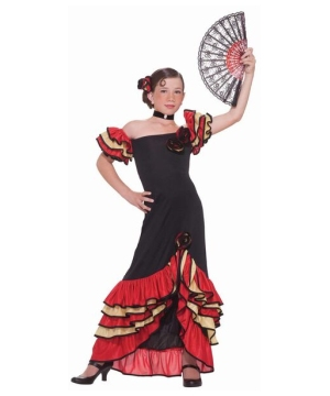 Flamenco Dancer Girls Costume