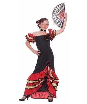 Flamenco Dancer Girls Costume