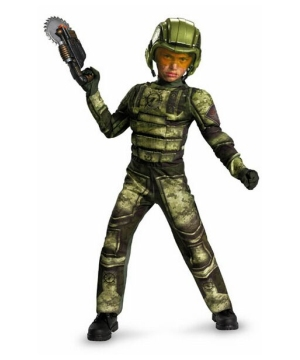 Foot Soldier Muscle Boys Costume