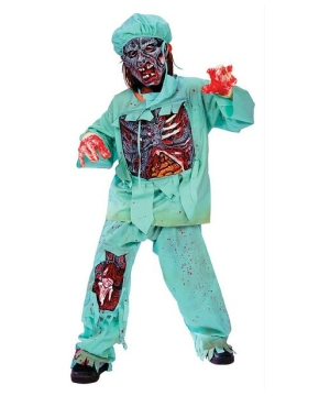 Zombie Doctor Kids Costume