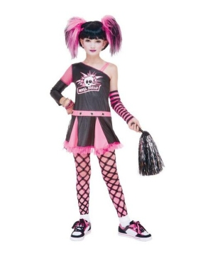 Gothic Cheerleader Kids Costume