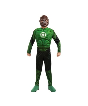 Green Lantern Kilowog Muscle Kids Costume