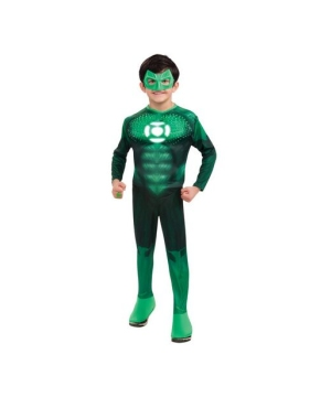 Green Lantern Light up Muscle Kids Costume deluxe