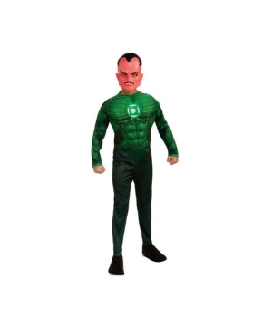 Green Lantern Sinestro Muscle Kids Costume