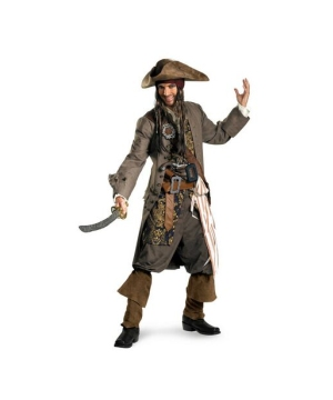 Captain Jack Sparrow Pirate Costume Theatrical