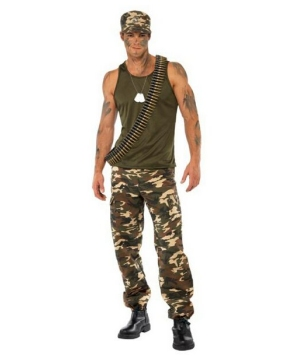 Khaki Camo Guy Costume - Adult Costume