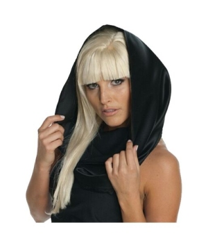 Lady Gaga Black Headscarf Costume Accessory