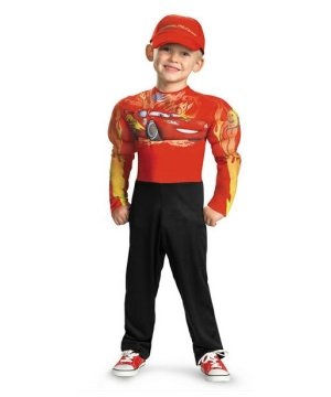 Lightning Mcqueen Muscle Kids Costume