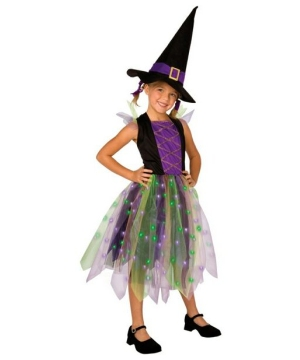 Light up Rainbow Witch Kids Costume