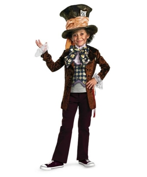 Mad Hatter Kids Costume deluxe