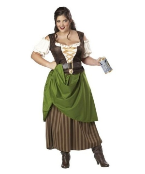 Tavern Maiden Adult plus size Costume