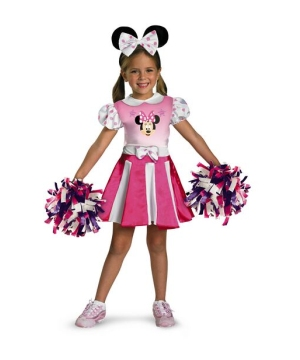 Minnie Mouse Cheerleader Disney Girls Costume