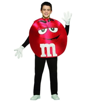 M&m Red Teen Costume