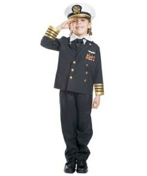 Navy Admiral Boys Costume