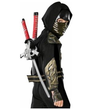 Ninja Dragon Swords and Ninja Sais Set