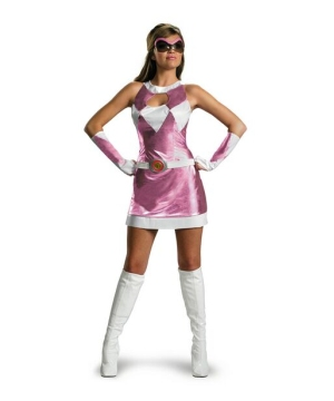 Pink Power Ranger Costume - Adult Costume