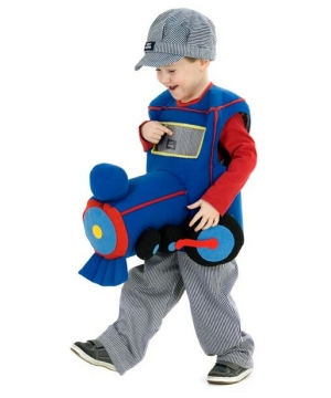 Plush Ride-in Train Boys Costume